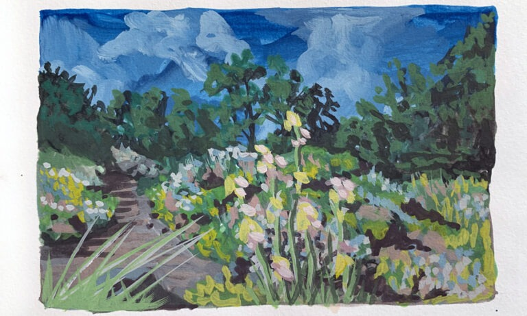 Painting in the Park with Gouache
