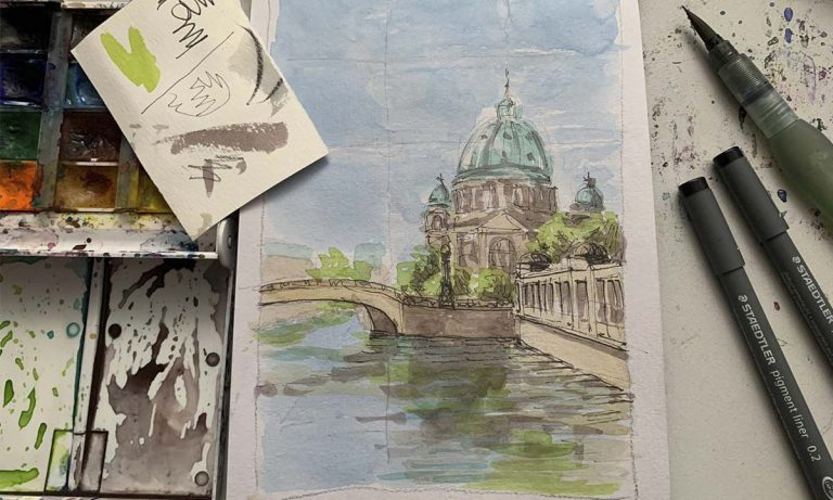 Urban Landscape: Sketching with Watercolor Class (video)