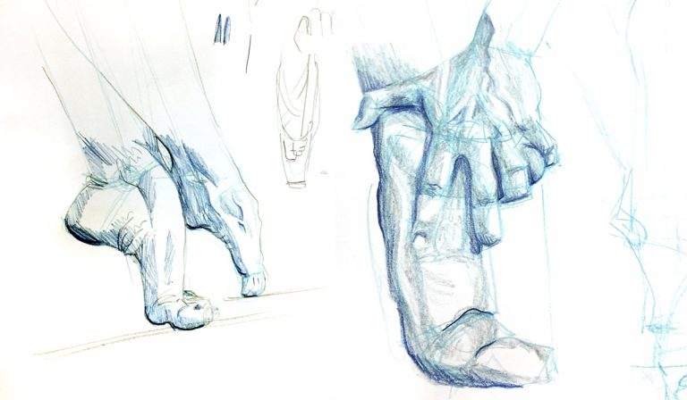 Figure Drawing: Hands and Feet Supply List